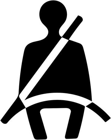 安全シートベルト アイコンを固定します。 写真素材