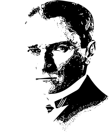 anatolian: Mustafa Kemal Ataturk illustration. He is the founder of modern Republic of Turkey