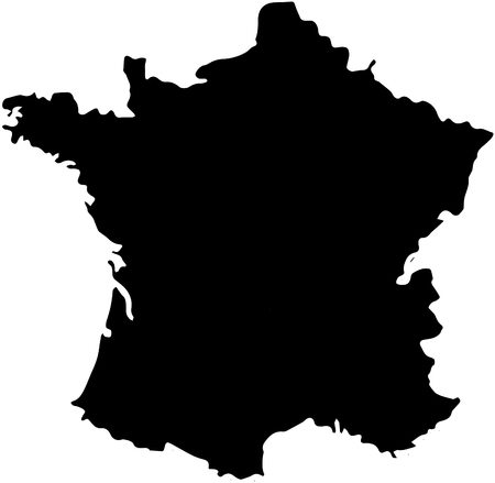 France country map illustration isolation.