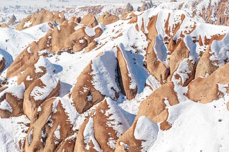 extraordinary rocks formations rock hills of Dervent valley, Cappadocia, Nevsehir, Turkey.