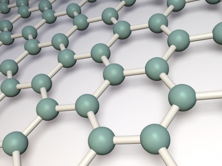 graphene: 3d reneder of molecular structure of graphene Stock Photo
