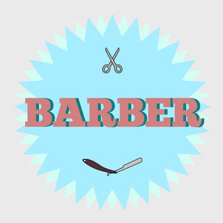 Barbershop logo Ilustração