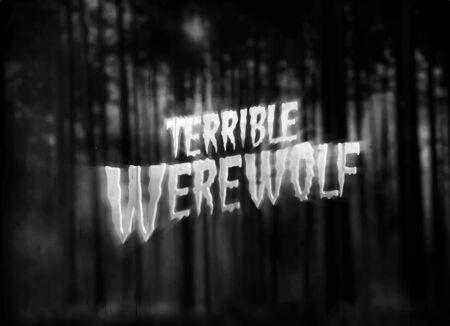 Retro horror movie title