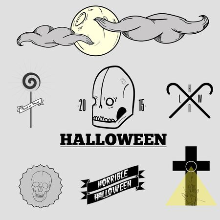 friday 13: Halloween set Illustration