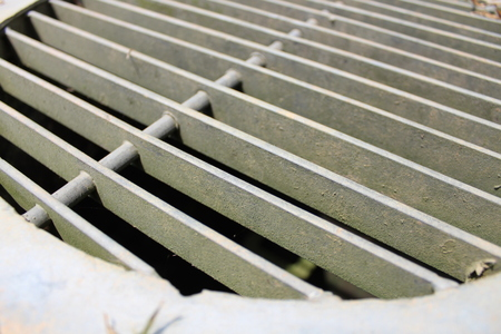 grille: Ventilation Hole, Very Close Up Side View. Stock Photo