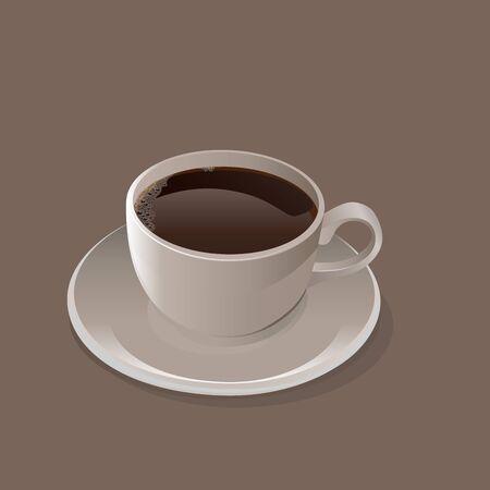 Cup of black coffee  Vector Illusztráció
