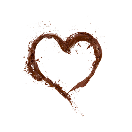 Chocolate splash, Chocolate heart shape