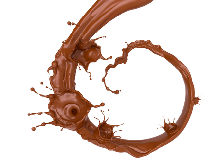 chocolate splash,chocolate isolated Stock fotó