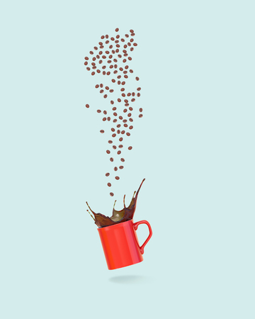 coffee cup background with coffee bean