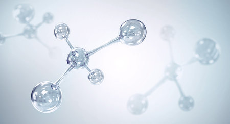 molecule or atom, Abstract atom or molecule structure for Science or medical background, 3d illustration
