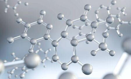 Abstract background of atom or molecule structure, Medical background, 3d illustration. Stock fotó