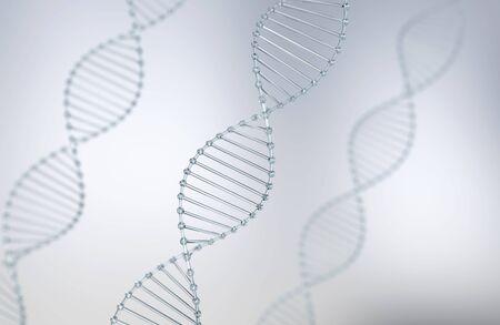 DNA helix, design element of molecule or atom, Abstract atom or molecule structure for Science or medical background, 3d illustration. Stock fotó