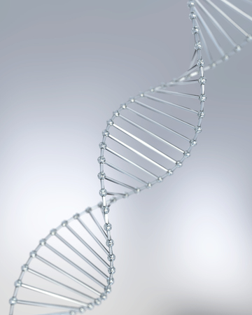 structure of DNA helix, molecule or atom, Abstract atom or molecule structure for Science or medical background, 3d illustration. Stock fotó