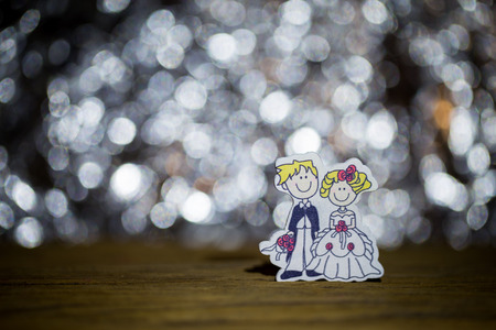 soul mate: Valentines Day with soul mate on bokeh  background