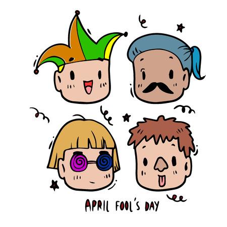 april: illustration, April fools day Illustration