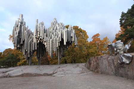 Sibelius Monument Stock Photo
