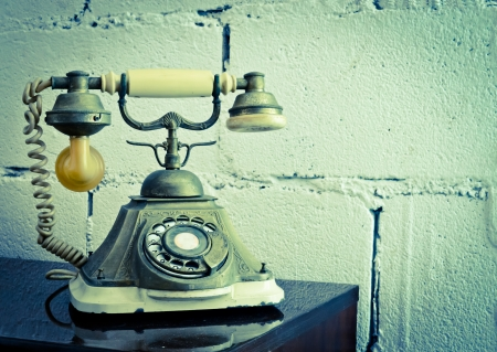 ancient telephone: vintage telephone Stock Photo