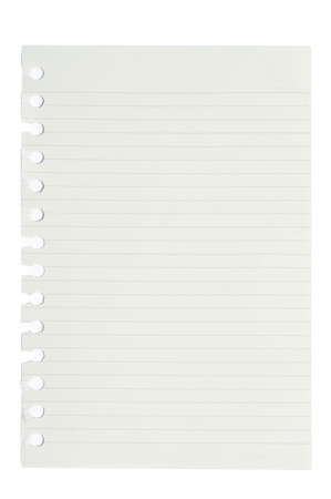 blank squared and lined notepad pages