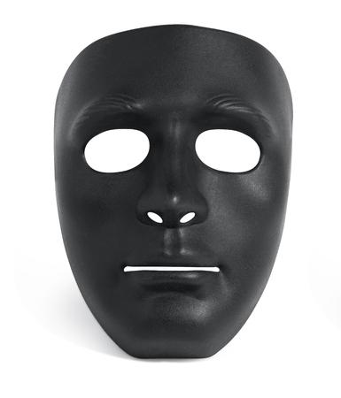 Halbmaske schwarz und weiß