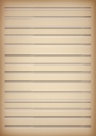 a blank page of sheet music 스톡 콘텐츠