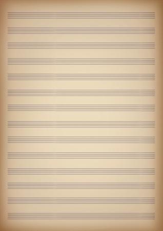 a blank page of sheet music 版權商用圖片