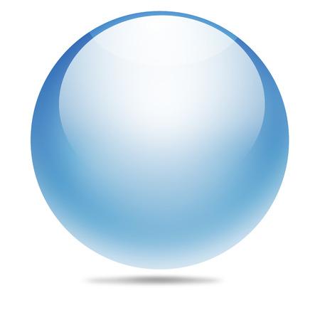 crystal gazing: transparent ball