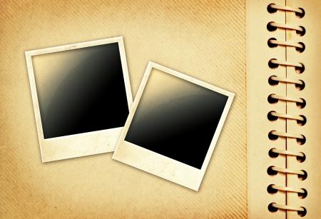 Vintage photo album with polaroid Stock Photo - 22630785