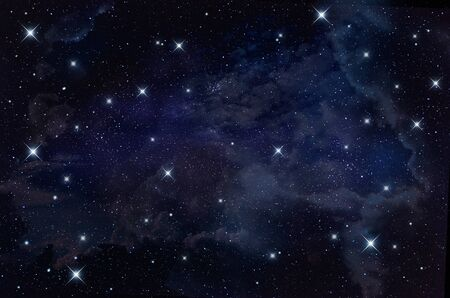 astrophotography: starry in the night sky,abstract