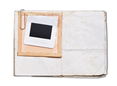 Old papers with white frame
