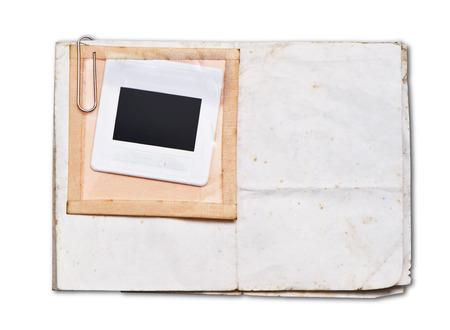 Oud papier met wit frame