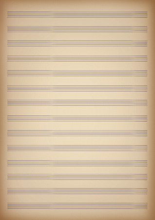 orchestration: a blank page of sheet music Stock Photo