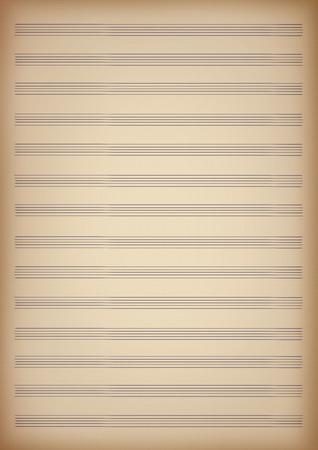 een blanco pagina van bladmuziek
