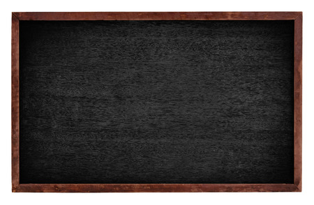 Black board isolate on white background 스톡 콘텐츠