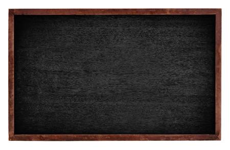 ersatz: Black board isolate on white background Stock Photo