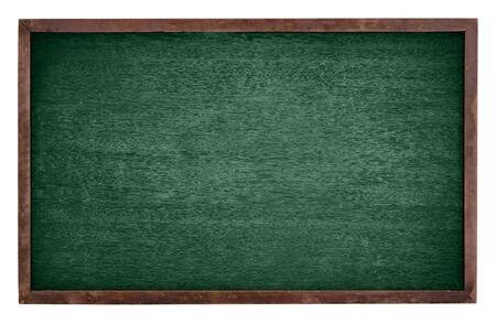 ersatz: Green chalk Board isolate on white background