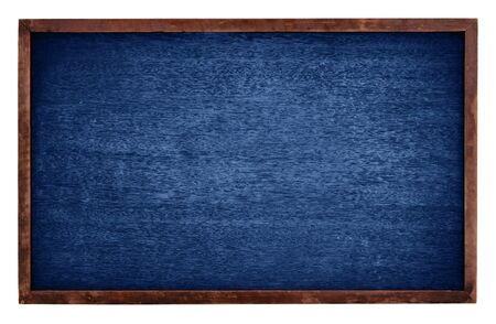 ersatz: Blue chalk board isolate on white background Stock Photo