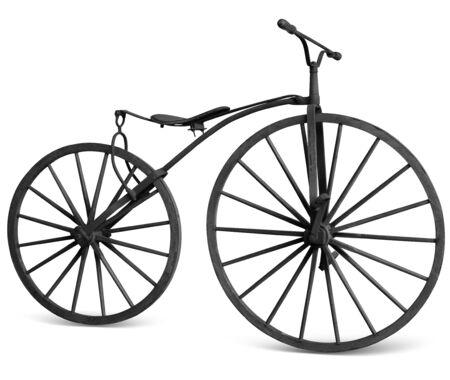 oude fiets met houten wielen