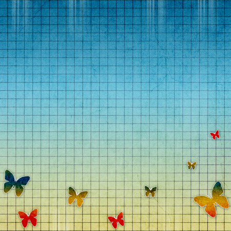butterfly background: vintage background with butterfly Stock Photo