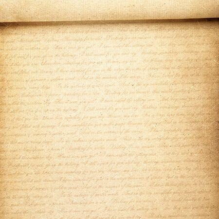 papier a lettre: papier à lettres avec du texte, vendange Banque d'images