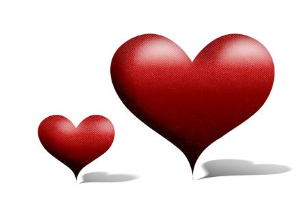 february 1: Heart symbol Stock Photo