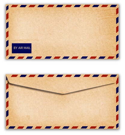 old envelope: Old Envelope with grunge on white background