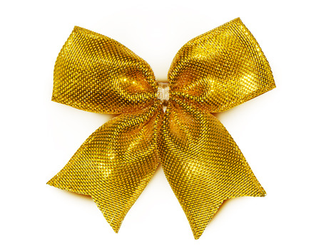 gold bow: gold bow Stock Photo