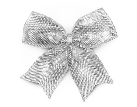 silver ribbon: silver ribbon Stock Photo