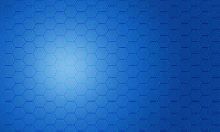 abstract blue pentagon background