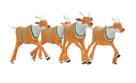 reindeer decorate isolate is on white background Stock Photo