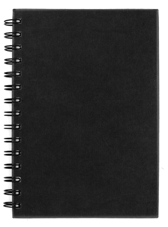 black notebook isolate is on white background