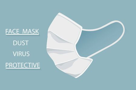Protective Medical face mask isolate Anti virus element prevention