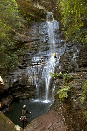 abseiling: Empress Falls Canyoning Blue Mountains Australia