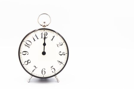 Vintage Classic Alarm clock isolated on white background Banque d'images