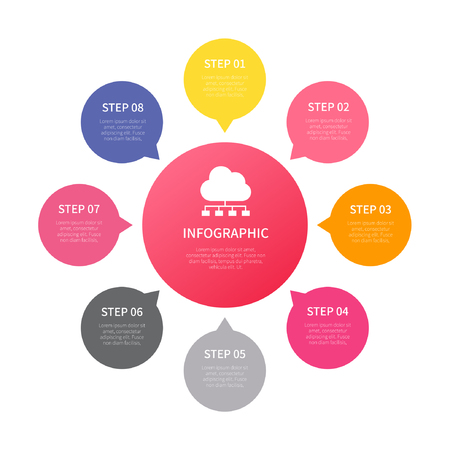 Verschiedene Business-Infografik, Infografik-Diagramm, Vektor-Infografik-Elemente Vektorgrafik